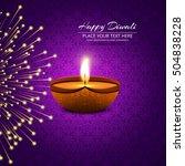 diwali festival offer brochure | Shutterstock .eps vector #504838228