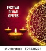 diwali festival offer brochure | Shutterstock .eps vector #504838234