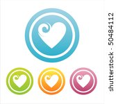 set of 4 colorful hearts signs | Shutterstock .eps vector #50484112