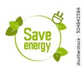 save energy symbol green   Shutterstock .eps vector #504842584