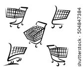 shopping cart set. vector | Shutterstock .eps vector #504847384