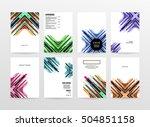 geometric background template... | Shutterstock .eps vector #504851158