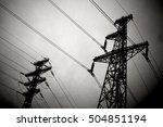 high voltage power line in the...