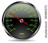 old car dashboard over white... | Shutterstock .eps vector #50485372