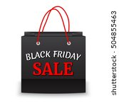 black friday sale and paper bag ... | Shutterstock .eps vector #504855463