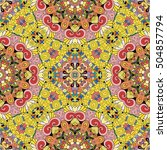 tracery seamless calming... | Shutterstock .eps vector #504857794