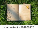 An Open Notebook Book Lying On...