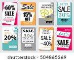 sale banner design templates... | Shutterstock .eps vector #504865369