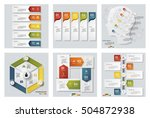 collection of 6 design colorful ... | Shutterstock .eps vector #504872938