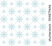 holiday backdrop  snowflake... | Shutterstock .eps vector #504879646