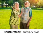 couple is laughing. elderly... | Shutterstock . vector #504879760