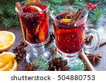 Hot Christmas Mulled Wine With...