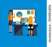 modern lesson | Shutterstock .eps vector #504881806