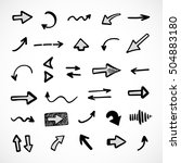 hand drawn arrows  vector set | Shutterstock .eps vector #504883180