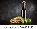 Beer Bottle On Dark Background