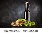 Beer Bottle On Dark Background