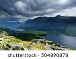 storm clouds over the... | Shutterstock . vector #504890878