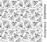 hand drawn vector seamless... | Shutterstock .eps vector #504894004