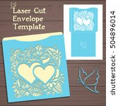 lasercut vector wedding... | Shutterstock .eps vector #504896014