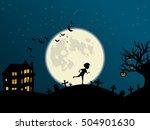 halloween vector illustration ... | Shutterstock .eps vector #504901630