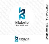 letter k logo design vector... | Shutterstock .eps vector #504902350