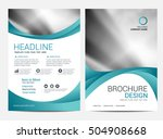 brochure annual report  layout... | Shutterstock .eps vector #504908668