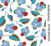 flowers on white background. | Shutterstock .eps vector #504909898