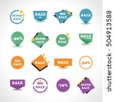 sale stickers set  vector... | Shutterstock .eps vector #504913588