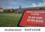 do not walk on grass table sign ...   Shutterstock . vector #504914338