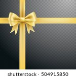 golden bow decoration and... | Shutterstock .eps vector #504915850
