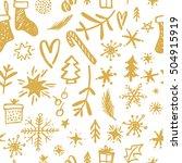 christmas seamless pattern.... | Shutterstock .eps vector #504915919