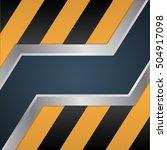 sliding metal doors. technique... | Shutterstock .eps vector #504917098