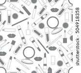 seamless pattern of different... | Shutterstock .eps vector #504918358