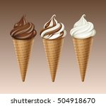 vector set of brown chocolate... | Shutterstock .eps vector #504918670