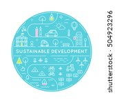 sustainable development and... | Shutterstock .eps vector #504923296