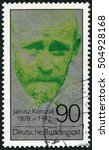 Small photo of GERMANY - CIRCA 1978: A stamp printed in Germany shows Janusz Korczak (1878-1942), physician, educator, proponent of children's rights, circa 1978