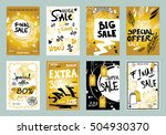 collection of sale banners ... | Shutterstock .eps vector #504930370