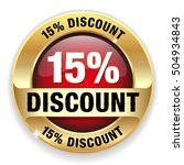 red 15 percent discount button  ... | Shutterstock .eps vector #504934843