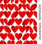 heart shape seamless pattern... | Shutterstock .eps vector #504936154