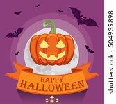 vector halloween pumpkin. happy ... | Shutterstock .eps vector #504939898