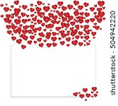 card for valentine's day  place ...   Shutterstock . vector #504942220