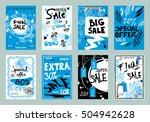 collection of sale banners ... | Shutterstock .eps vector #504942628
