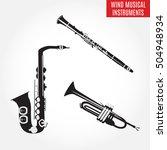 set of black and white...   Shutterstock .eps vector #504948934