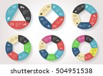 circle arrows infographic.... | Shutterstock .eps vector #504951538