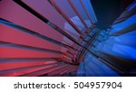 abstract reflective shiny... | Shutterstock . vector #504957904
