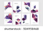 geometric background template... | Shutterstock .eps vector #504958468