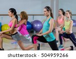 group of fitness team... | Shutterstock . vector #504959266