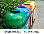 colored trash containers for... | Shutterstock . vector #504959983