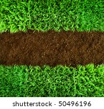 short green grass and brown... | Shutterstock . vector #50496196