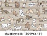 cats pattern | Shutterstock .eps vector #504966454